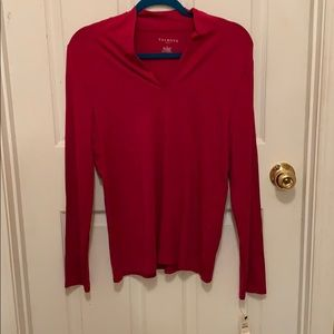 NWT! Talbots Hot Pink Long Sleeve Top,Size L